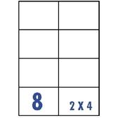 Unistar 裕德3合1電腦標籤紙 (49)US4470 8格 (100張/盒)