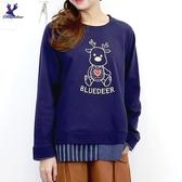 【秋冬新品】American Bluedeer - 刺繡假兩件上衣
