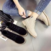 馬丁靴女英倫風2019秋冬季新款學生加絨保暖短靴百搭平底棉靴女鞋