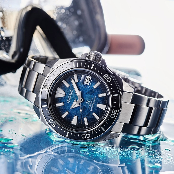 SEIKO 精工 Prospex 愛海洋 魟魚 200米潛水機械錶 4R35-03W0B(SRPE33J1)