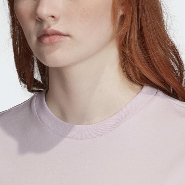 ADIDAS GRAPHIC TEE 女裝 短袖 慢跑 訓練 三葉草 眼睛 舒適 黑LOGO紫【運動世界】GK5164