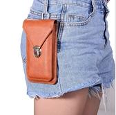 King*Shop~6.5寸通用掛包款手機包6.1寸戶外腰包4.7皮套大號容納2個手機