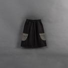 Queen Shop【04110363】童裝 親子系列 撞色口袋造型九分寬褲 S/M/L*現+預*
