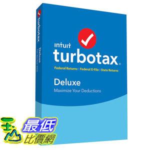 [106美國直購] 2017美國暢銷軟體 TurboTax Deluxe 2016 Tax Software Federal State + Fed Efile PC MAC Disc