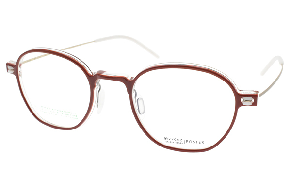 VYCOZ光學眼鏡 POSTER RED (紅-霧金) 韓系流線造型款 #設計師品牌