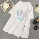 短袖短袖t恤女2020年學生白色中長款春夏韓版大碼寬鬆ins潮上衣服春季特賣