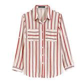 【MASTINA】條紋口袋襯衫-紅 0524