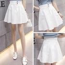蓬蓬裙 牛仔短裙夏季 高腰百褶裙a字蓬蓬裙子顯瘦白色半身裙女夏-Ballet朵朵