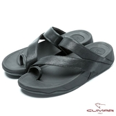 CUMAR 陽光型男 樂活時尚夾腳鞋-黑色