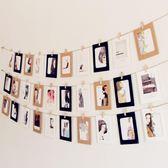 簡約文藝卡紙照片墻掛飾 墻壁相片墻 房間宿舍懸掛裝飾畫6寸【八五折優惠 最後一天】