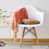 伊姆斯扶手椅子創意時尚現代簡約個性藝術凳子塑料靠背椅北歐餐椅 AQ完美居家生活館