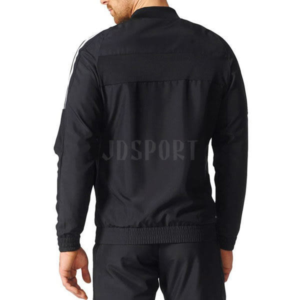 Adidas Club Jacket 男 黑 白 立領夾克 三條線 愛迪達 薄款 運動外套 ESS 3S Climacool B45845