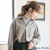 ❖ Winter ❖ 氣質格紋V領襯衫上衣 - Green Parks