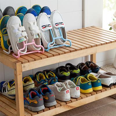 創意簡約掛式鞋架 兒童晾鞋架收納架(2入) 【AF07227】聖誕節交換禮物 99愛買生活百貨