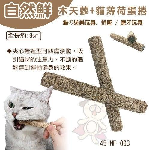 *KING WANG*自然鮮《木天蓼+貓薄荷蛋捲2支入 》貓咪玩具【45-NF-063】