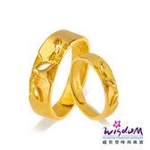 威世登 黃金戒指 對戒 葉葉相思 愛情圈套黃金對戒系列 情人節 結婚金飾 GA00043B+GA00043G-ACEX
