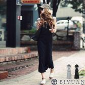 (女裝)大口袋連帽吊帶長裙【NS1741】OBIYUAN 修身顯瘦連身裙 共2色