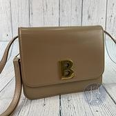 BRAND楓月 BALENCIAGA 巴黎世家 592898 粉膚色 奶茶色 B字金釦肩背包 側背包 風琴包