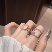 時尚個性開口可調節戒指女小眾設計情侶指環潮冷淡風食指戒子