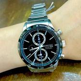 [萬年鐘錶]  SEIKO   SPIRIT 極簡美學太陽能計時腕錶 黑  V172-0AP0A (SBPY119J)