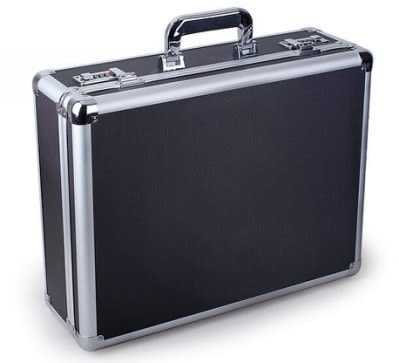 高檔密碼手提箱  鋁合金工具箱【藍星居家】