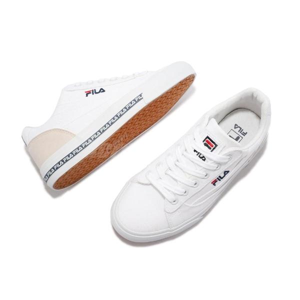 Fila 帆布鞋 Classic Kicks L 2.0 女鞋 白 米 基本款 休閒鞋【ACS】 5C932V123