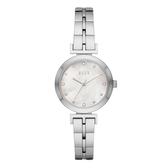 ELLE  ODEON系列晶鑽貝殼面腕錶-白X銀