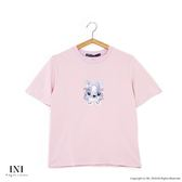 【INI】刺繡休閒、兔兔刺繡可愛氣息上衣.粉色