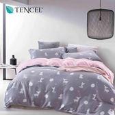 天絲 Tencel 夢露 紫 床包 加大三件組 100%雙面純天絲