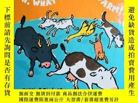 二手書博民逛書店OH,罕見WHAT A NOISY FARM!Y6515 Har