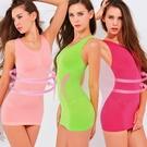 魔法e裳《透氣3D美體衣》3D超彈力*可當長版襯裙背心-D021【現貨】