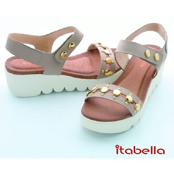 本週下殺★2016新品★itabella.復古鉚釘涼鞋(米色)