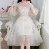小禮服小禮服仙女系學生連身裙平時可穿十八歲公主裙成年禮服女仙氣夢幻 伊蒂斯