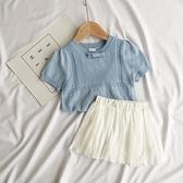 夏女童針織短袖t恤洋氣兒童嬰兒寶寶冰絲短袖韓版t恤小童上衣女薄 幸福第一站