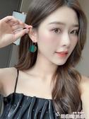 莫蘭迪色系耳環夏天2020新款潮清新個性百搭綠色網紅氣質耳飾女 新年禮物