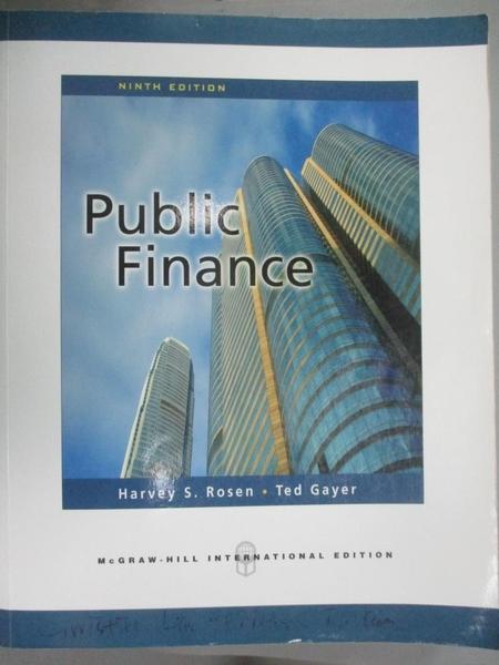 【書寶二手書T3/大學商學_ZJR】Public Finance_Rosen、Gayer