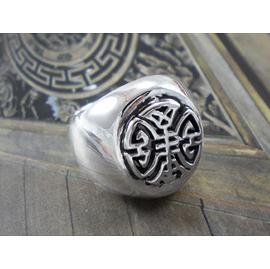 中國風戒指 壽紋戒 純銀戒指 現代中國風-64DESIGN