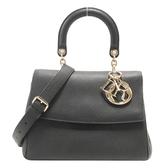 Dior 迪奧 黑色牛皮金釦手提肩背2way包 Be Dior Flap Bag 【二手名牌BRAND OFF】