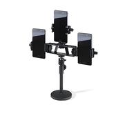 手機架子直播桌面支架多功能補光美顏主播專用便攜支撐架-享家