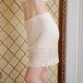 襯裙 純桑蠶絲女士蕾絲相拼舒適透氣包臀柔滑防走光打底襯裙 巴黎春天