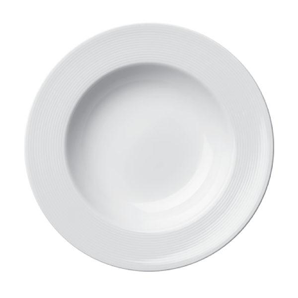 【Luzerne】陸升瓷器 Lines 摩登純白 22cm 湯盤 /LN3102022