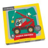 【幼兒拼圖】CONSTRUCTION/PUZZLE SQUARES/6組(共27片)《主題:工程車》