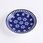 日本花之慶典盤12cm 藍