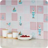 【耐高溫油煙貼】廚房除油煙機鋁箔防油煙貼紙 流理台磁磚自黏貼紙 防油污壁貼 45X75牆貼