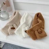 圍巾 INS韓版短款毛毛絨羊羔絨圍巾女冬季保暖學生可愛少女圍脖百搭潮