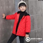 男童棉服2018新款冬季中長款兒童棉衣加厚寶寶冬裝童棉襖連帽外套