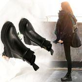 中筒靴35-40靴子馬丁靴女英倫風女鞋秋冬新品全館免運百搭靴子