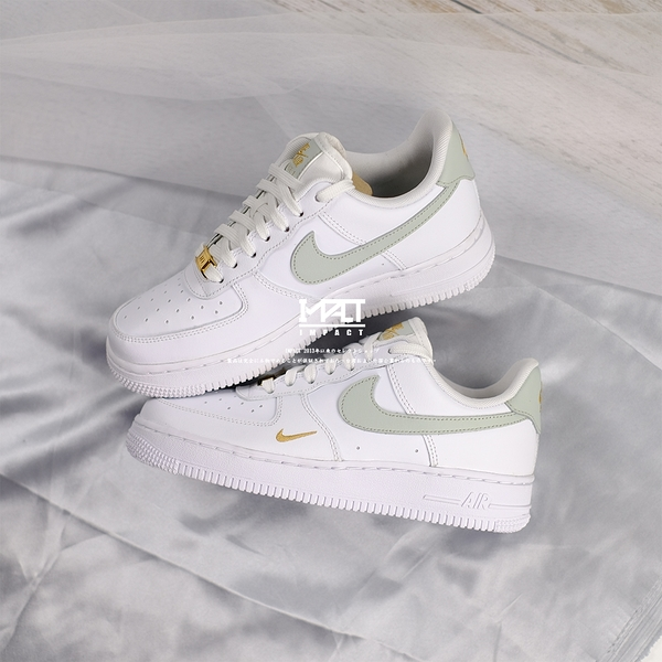 IMPACT Nike Air Force 1 White Grey Gold 抹茶 金勾 雙勾 CZ0270-106