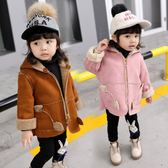 女寶寶冬裝外套女童連帽中長款大衣1-3歲嬰兒新款小女孩毛毛衣潮 CY潮流站
