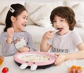 炒優酪乳機家用炒冰機器炒霜淇淋機兒童炒冰盤小型迷你藍色YYP 蓓娜衣都